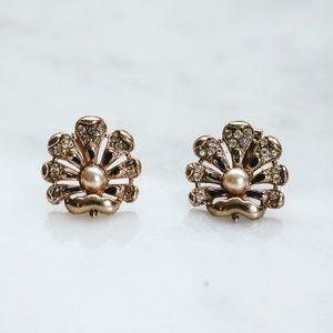 PAT 1967 965 Rhinestone and Faux Pearl Earrings